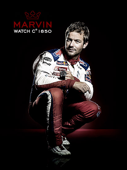 Retouche Sébastien Loeb pour Marvin Watches