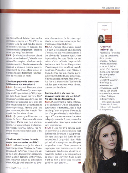 Retouche Article sur Nathalie Rheims